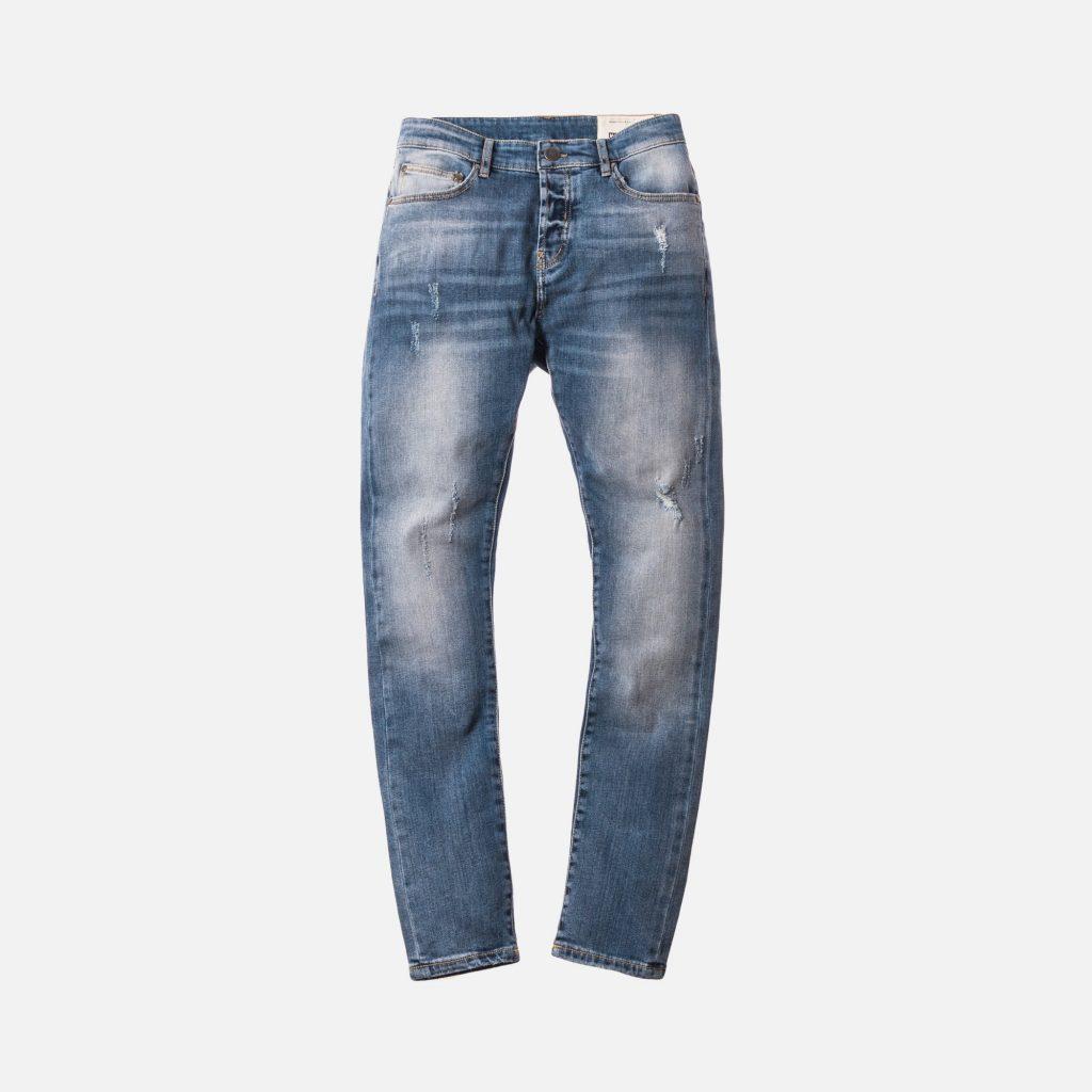 Denim faded blue pants