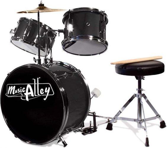 Music Alley 3 Piece Kids Drum Set