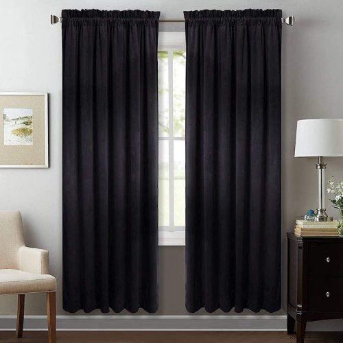 StangH Velvet Insulated Noise Absorbing Curtains