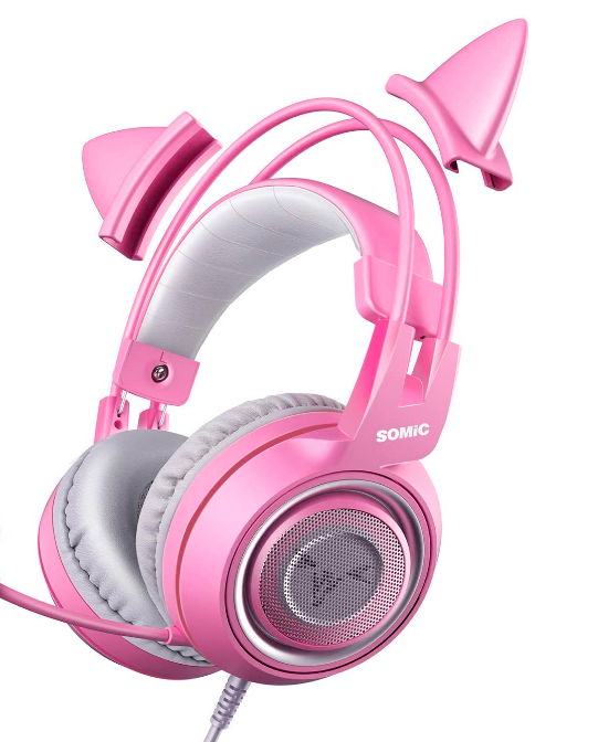 Pink Stereo Gaming Headset