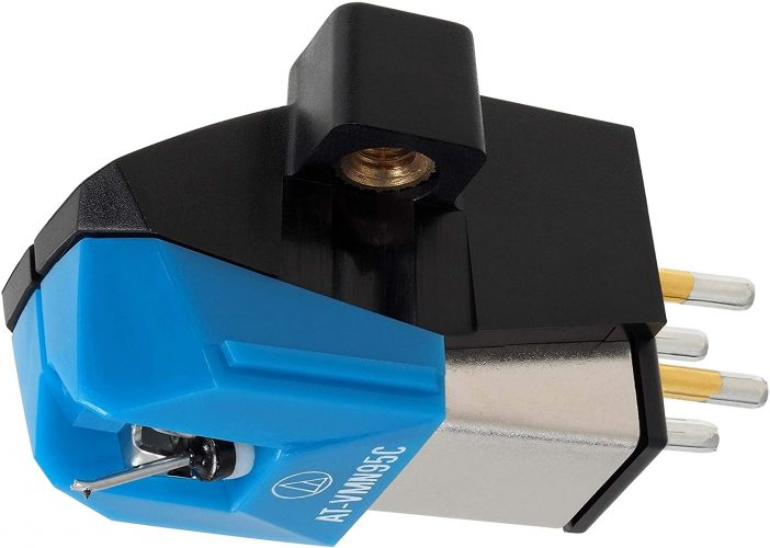 Audio-Technica AT-VM95C Dual Moving Magnet Turntable Cartridge Blue