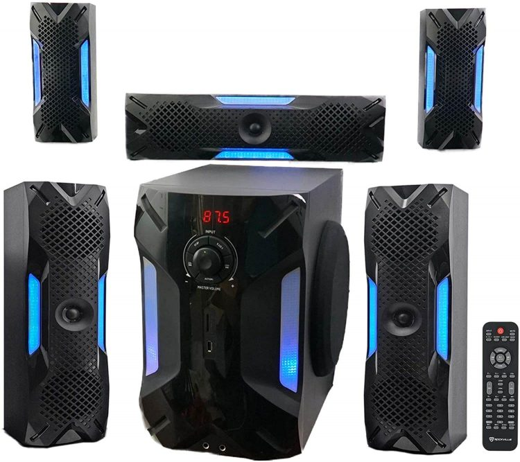 Rockville Home Theater w Subwoofer – Best for In-Home Surround Sound