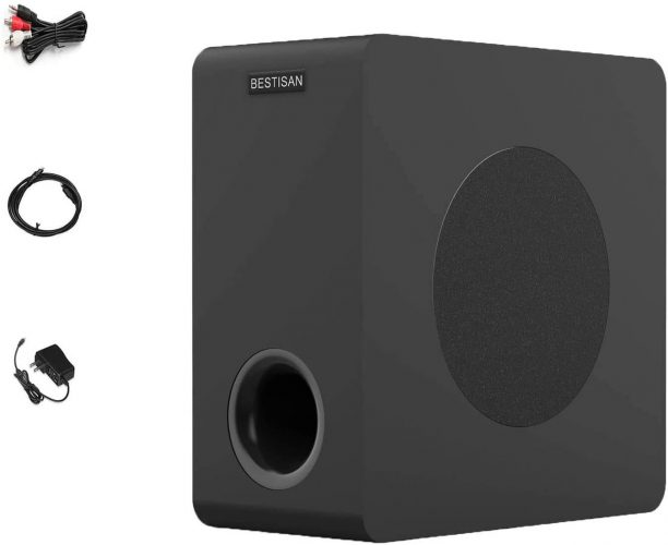 Bestisan Home Theater Powered Subwoofer – Best Compact Option
