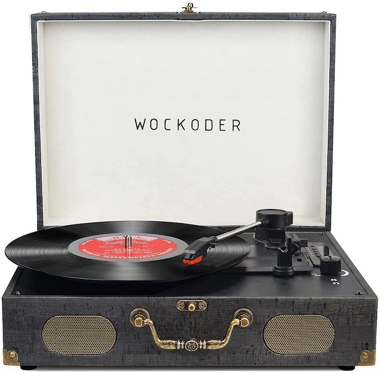 Turntable Record Player Portable Wireless 3 Speed Vinyl Record Player