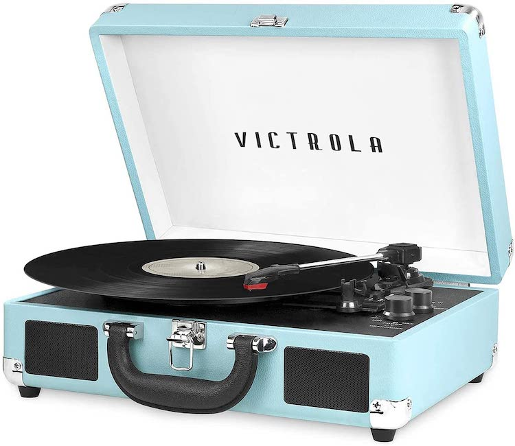 Victrola Vintage 3-Speed Bluetooth Portable Suitcase Record Player