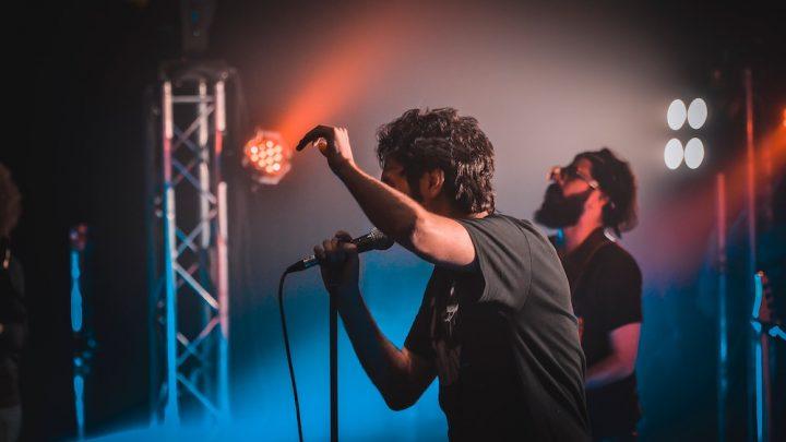 indie musicians performing on stage